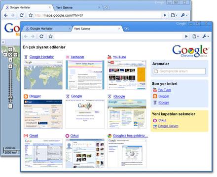 Google Chrome görünümü