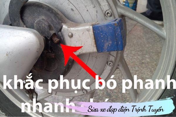 Khắc phục bó phanh xe đạp điện