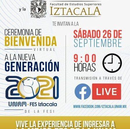Ceremonia de Bienvenida Virtual a la nueva Generación 2021