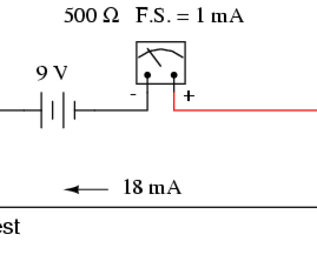 With 9 Volts Of Battery Potential And Only 500  Cf 89 Of Movement Resistance Our Circuit Current Will Be 18 Ma Which Is Far Beyond The Full Scale Rating Of The