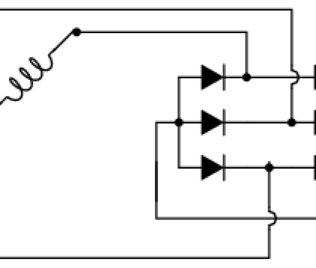 Three Phase Full Wave Bridge Rectifier Circuit