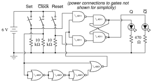 NAND Gate SR FlipFlop   Digital Integrated Circuits   Electronics Textbook