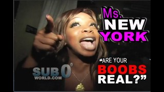 "Ms. NEW YORK ""Are Your BOOBS REAL?"""