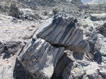 Cool Rocks made of Pumice and Obsidian in stripes