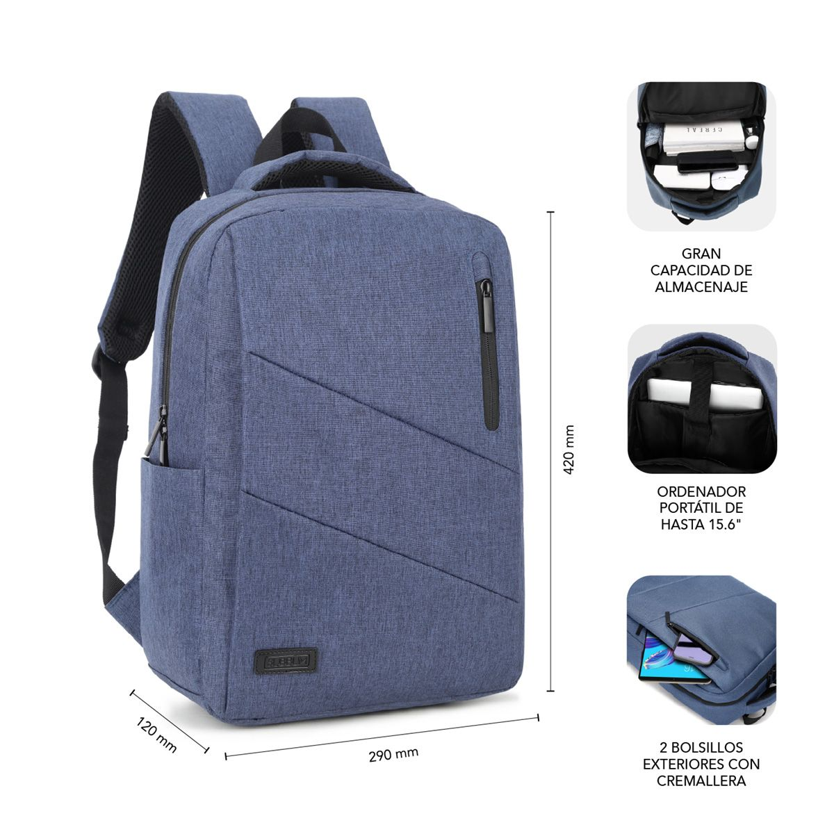 Mochila Para Portátil City Backpack 15 6 Blue Subblim