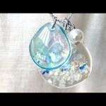 【UVレジン】100均材料で人魚の鱗みたいなネックレスを作りました!mermaid scales necklace resin DIY