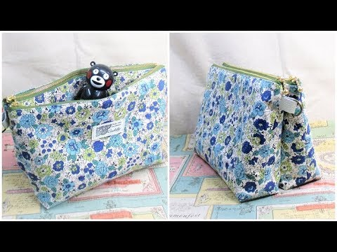 ダブルジッパーポーチ作り方  DIY Double Zipper pouch Twin Pouch Tutorial