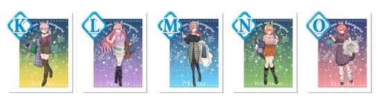 「五等分の花嫁」きゃらっとくじ第3弾のK賞~O賞:A3クリアポスター
