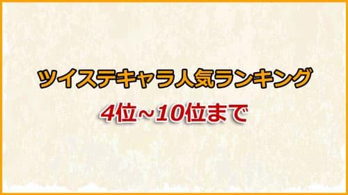 「ツイステ」人気投票ランキング4位〜10位までのキャラクター