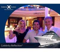 """Oh what a night""… After seeing a magician in the show (#jamieallan) on board the #celebrityreflection tonight an early night tucked in bed was all agreed… But me and Laura had other plans and managed to persuade @stephenjarmuz to stay out for what turned about to be another 90 mins… @ariasthomasradio live in the mix once again… Things seem to be improving on the music front #DjArias… Keep it up#celebrityreflection #photobooth #nightclub"