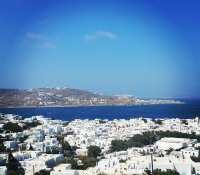 Quick shot of a view down into #Mykonos town… #Vista