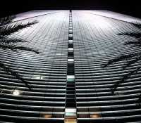 Awesome building in the financial district of Miami, Brickell… #building #skyscraper #curvey #curves #tower #palmtrees