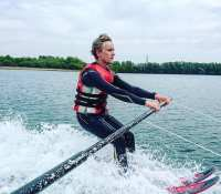 Had a great day learning to waterski up at Pine Lakes in Carnforth today. Not done it about 10years so 2 mins on the bar then I was up on the rope#waterskiing #watersports #waterski