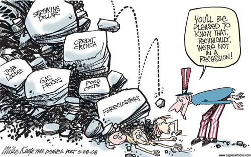 Recession in the USA, cartoon