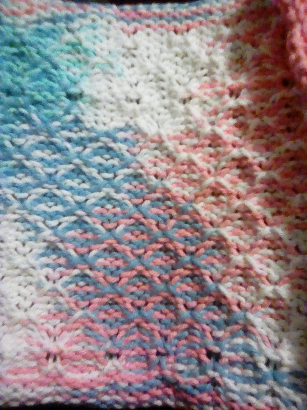 Tuck-stitched wash cloth