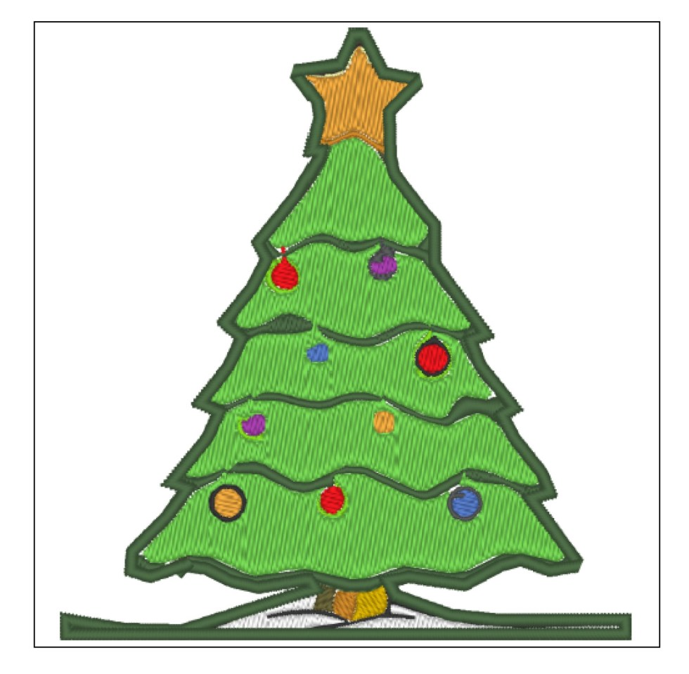 Christmas Tree 1 Embroidery Design File
