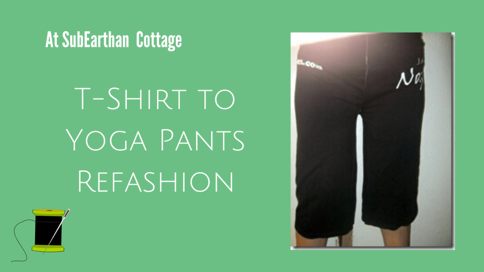 T-shirt to yoga pants refashion