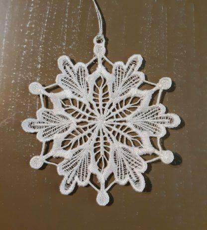 White Snowflake Lace Ornament