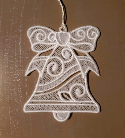 White Bell Lace Ornament