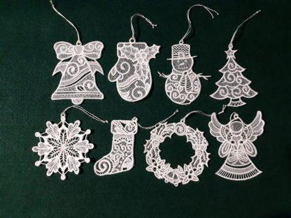 White Lace Ornament Collection Single Color