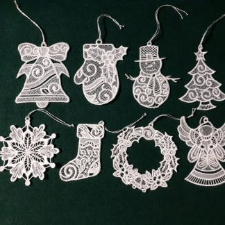 White Lace Ornament Collection Single Color
