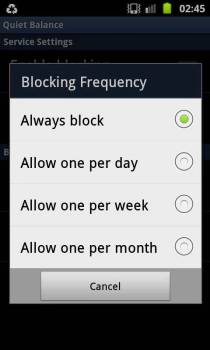 How to block the USSD notification/balance update messages