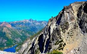 A 2200 feet drop to Colchuck