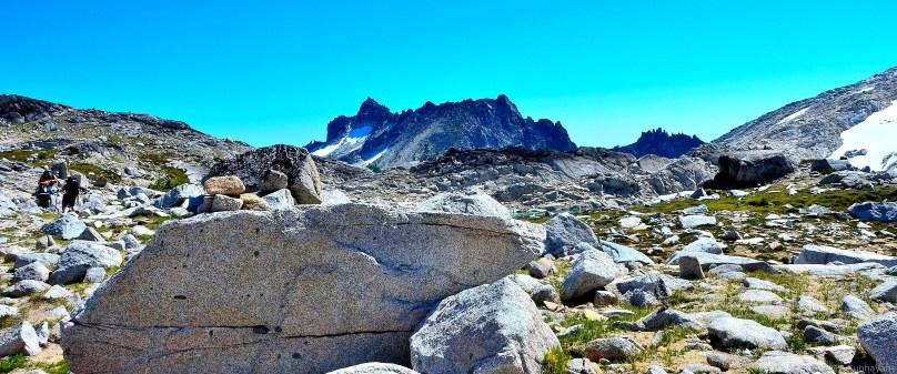 McClellan Peak peeking up beyond upper Enchantments