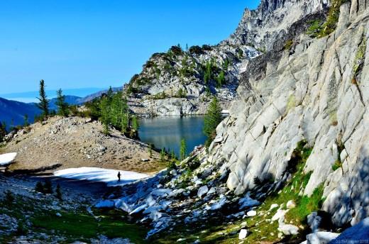 Chuck hiking to Crystal Lake