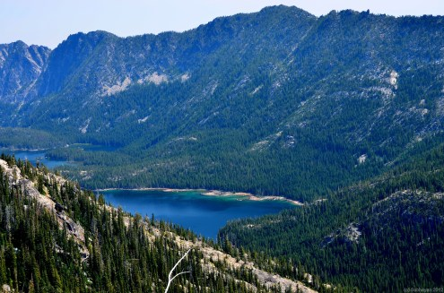 Snow lakes from the edge of lower Enchantments