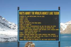 Notice Board at Tilicho lake