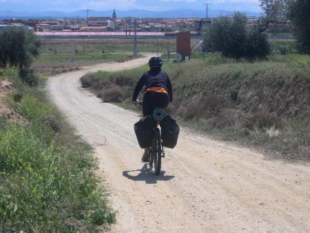 Sandra entrando en Torrijos