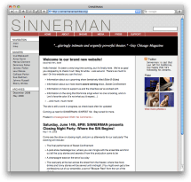 screenshot of sinnermanensemble.org