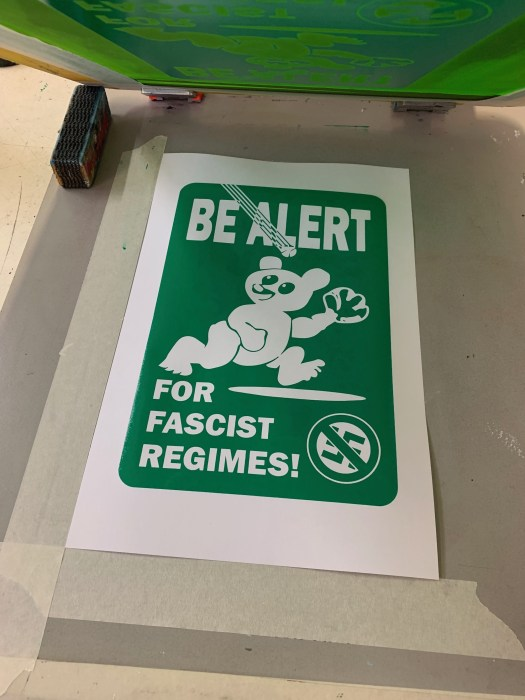 Be Alert For Fascist Regimes Wrigley Field Parody Poster