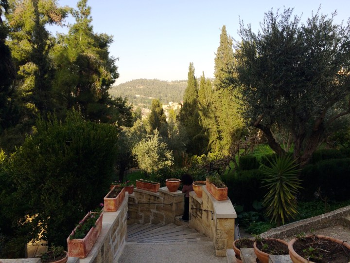 Inside the grounds of the Church of the Visition, Ein Karem, Jerusalem