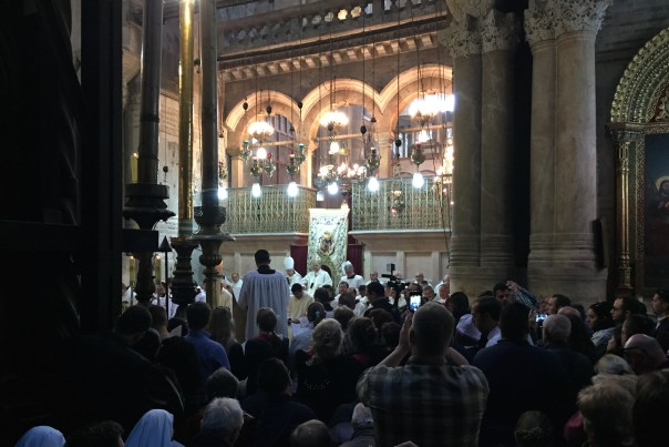 Easter in Jerusalem - Mass inside, the Church of the Holy Sepulchre