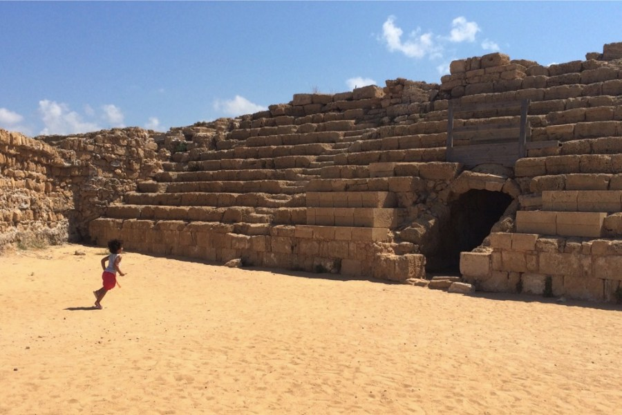 Roman Ruins at Caesarea - Exploring Israel with Kids