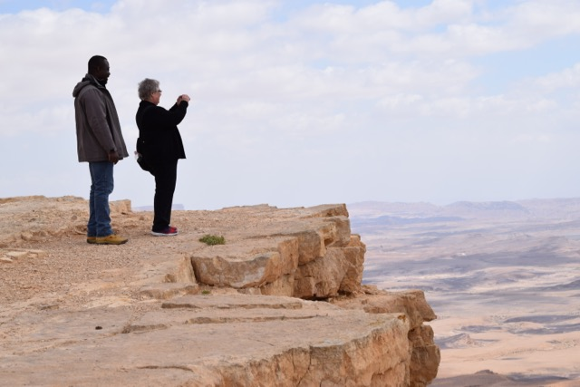 Travel with Kids - Mom and Bertrand at Mitzpe Ramon