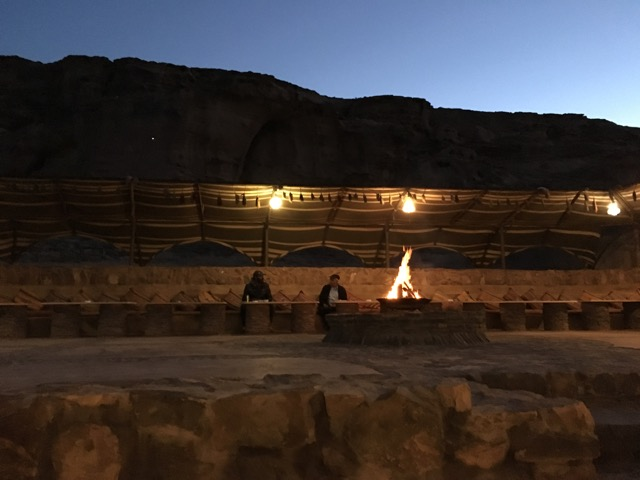 Travel with Kids - Bonfire at Beit Ali in Wadi Rum