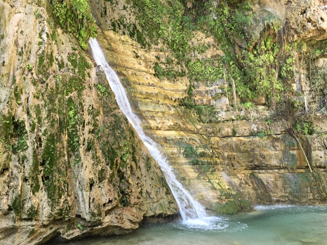 Travel with Kids - Waterfall at Ein Gedi