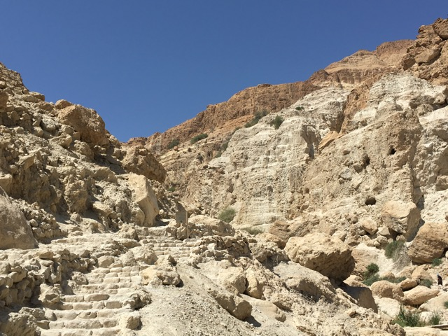 Travel with Kids - Beginning of the Ein Gedi hike