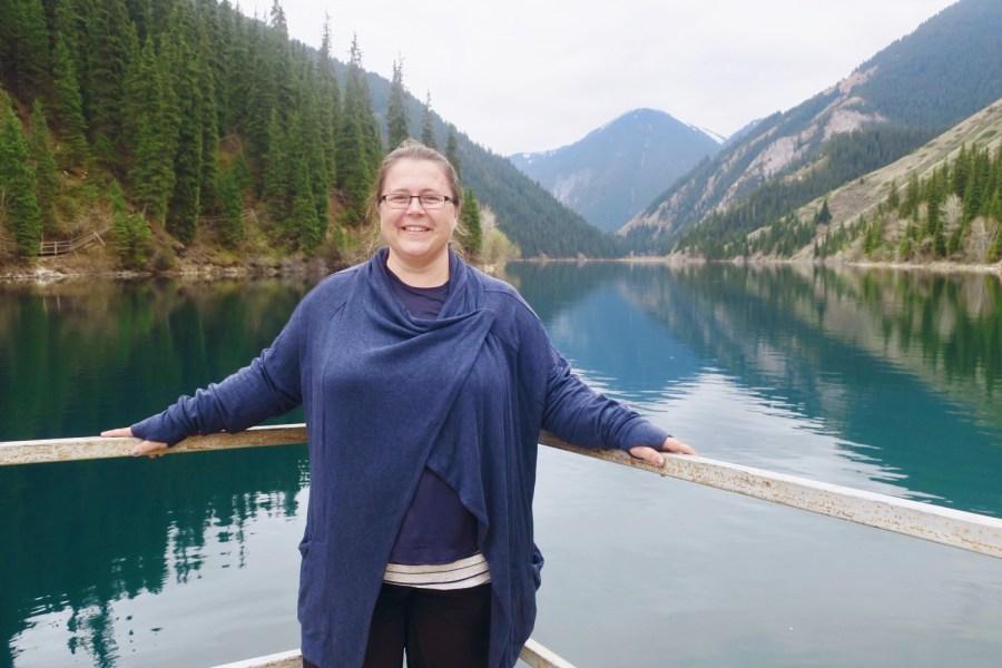 Theresa Sondjo at Kolsai Lake, Kazakhstan