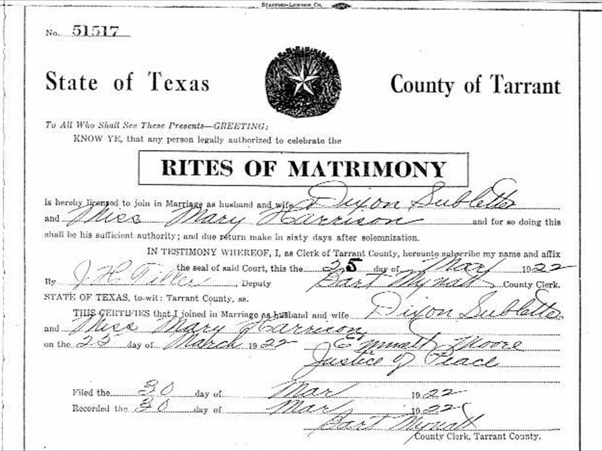 County marriage license records tarrant county marriage license records 1betcityfo Image collections