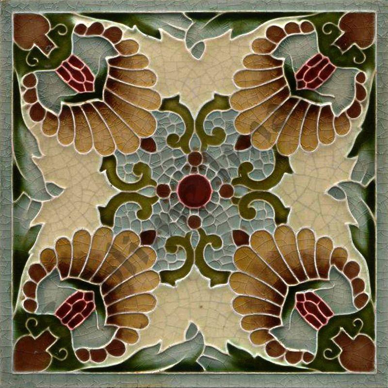 an037 art nouveau tiles reproduction ceramic or glass tiles
