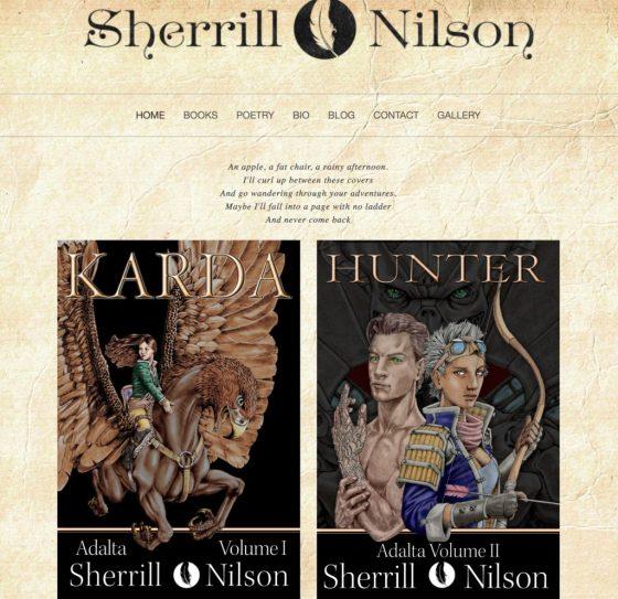 Sherrill Nilson Squarespace website