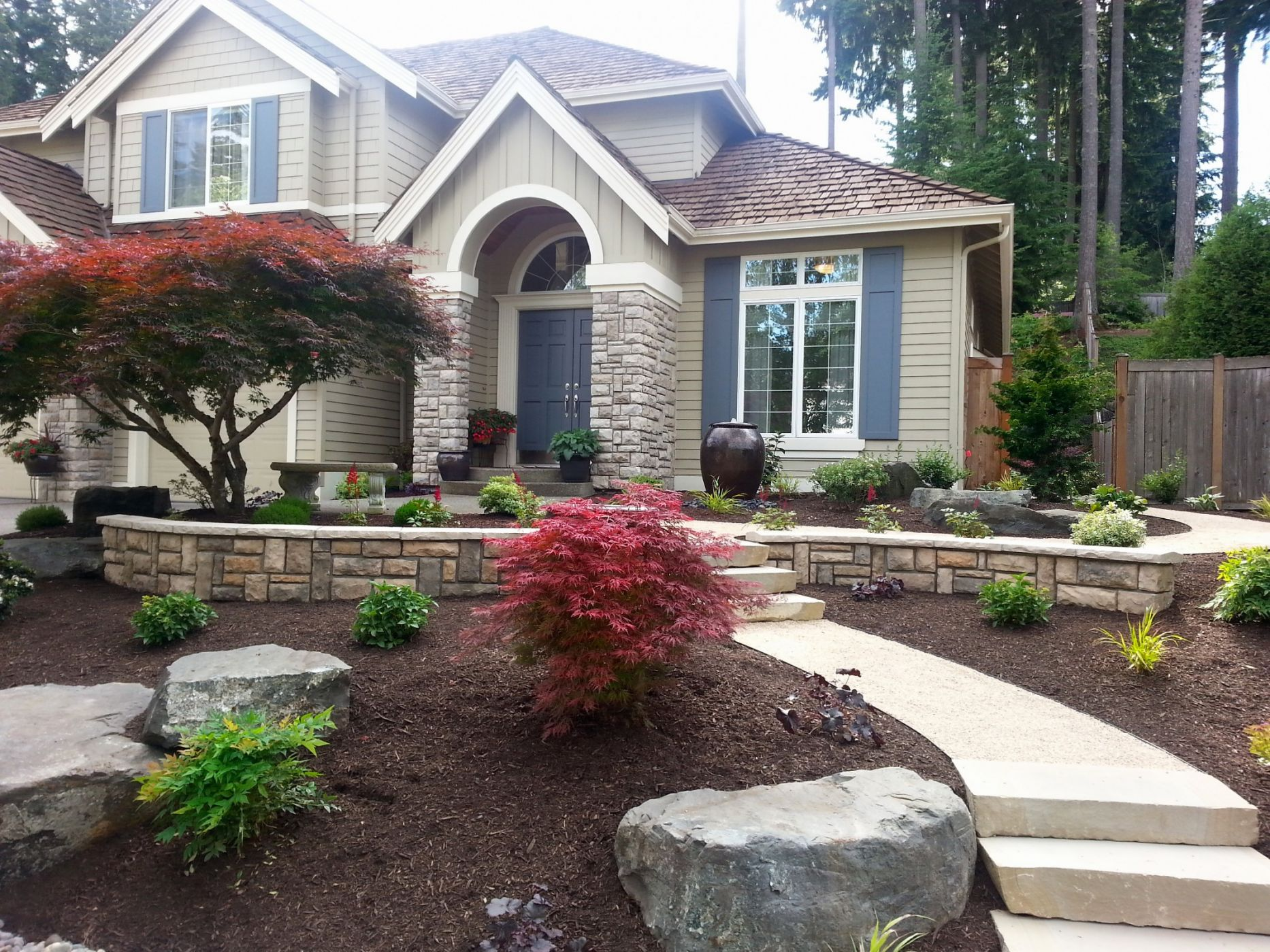Mill Creek Curb Appeal | Sublime Garden Design | Landscape ... on Backyard Landscaping Near Me id=31085