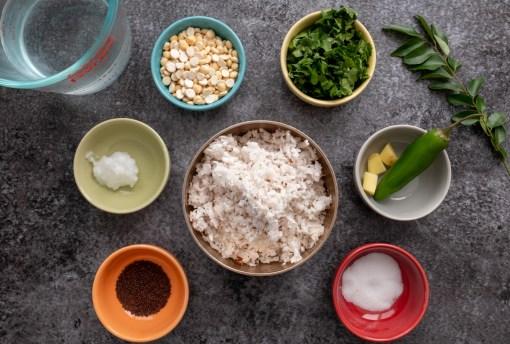 Coconut Cilantro Chutney Ingredients