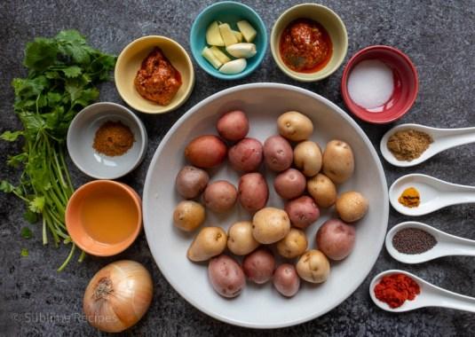 Ingredients for Achari Aloo