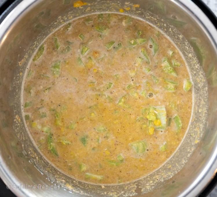 Dump cooking poricha kootu in one pot