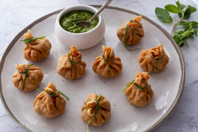 Fried chana potli ready to serve